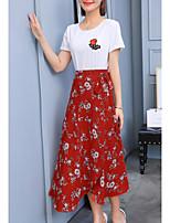 economico -Per donna Set Fantasia floreale Pantalone