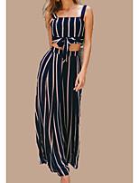 cheap -Women's Tank Top - Striped Pant