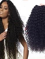 Недорогие -3 Связки Бразильские волосы Кудрявый Натуральные волосы Человека ткет Волосы / Удлинитель 8-28 дюймовый Ткет человеческих волос Машинное плетение Горячая распродажа / 100% девственница / вьющийся