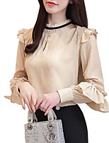 cheap -women's work shirt - solid colored stand