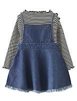 Недорогие -Дети / Дети (1-4 лет) Девочки Полоски Длинный рукав Набор одежды