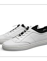 Недорогие -Муж. Наппа Leather Зима Удобная обувь Кеды Белый / Черный
