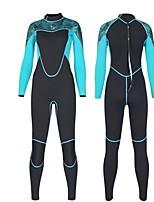 abordables -SLINX Mujer Traje de neopreno completo 2mm Trajes de buceo Manga Larga Cremallera Posterior Otoño / Verano