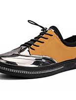 cheap -Men's Patent Leather / PU(Polyurethane) Fall Comfort Sneakers Color Block Black / Brown