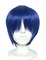 cheap -Synthetic Wig / Cosplay Wig Straight Golden Layered Haircut Synthetic Hair Anime / Fashionable Design / Adjustable Golden Wig Men's / Women's Short Capless Royal Blue / Heat Resistant
