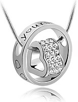 cheap -Women's AAA Cubic Zirconia Stylish Pendant Necklace - Gold Plated Heart Artistic, Classic, Korean Silver 40+5 cm Necklace 1pc For Party, Birthday, Daily
