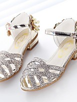 cheap -Girls' Shoes PU(Polyurethane) Spring & Summer Flower Girl Shoes Sandals Sequin for Kids Gold / Silver / Pink