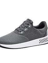 Недорогие -Муж. Комфортная обувь Сетка Лето Кеды Черный / Серый / Синий