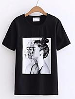 economico -T-shirt Per donna Essenziale Con stampe, Ritratto