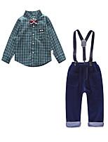 cheap -Kids Boys' Check Long Sleeve Clothing Set