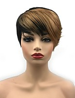 cheap -Synthetic Wig Straight Pixie Cut Synthetic Hair Synthetic Black Wig Women's Short Capless