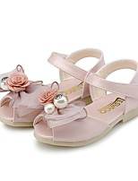 cheap -Girls' Shoes PU(Polyurethane) Summer First Walkers / Flower Girl Shoes Sandals Bowknot / Pearl / Flower for Toddler Light Purple / Light Pink / Peep Toe / Party & Evening