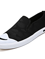 cheap -Men's Canvas / PU(Polyurethane) Summer Comfort Loafers & Slip-Ons Camouflage Color Black / Gray / Blue