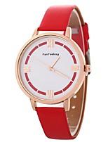 Недорогие -Xu™ Жен. Наручные часы Китайский Творчество / Повседневные часы PU Группа На каждый день / Мода Черный / Белый / Синий / Один год
