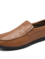 cheap -Men's Nappa Leather Fall Comfort Loafers & Slip-Ons Black / Brown