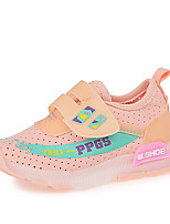 cheap -Girls' Shoes PU(Polyurethane) Spring & Summer Comfort Athletic Shoes Walking Shoes LED for Kids White / Black / Pink