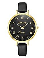 baratos -Geneva Mulheres Relógio de Pulso Chinês Novo Design / Relógio Casual / Legal Couro Banda Casual / Fashion Preta / Marrom