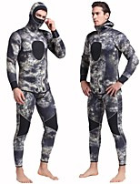 cheap -Men's Full Wetsuit 3mm SCR Neoprene Diving Suit Anatomic Design, Stretchy Long Sleeve Solid Colored Autumn / Fall / Spring / Summer