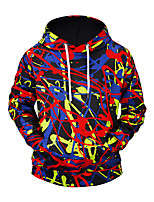 cheap -Men's Street chic / Exaggerated Hoodie - Rainbow, Print