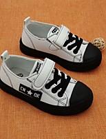 Недорогие -Девочки Обувь Полиуретан Весна лето Удобная обувь Кеды Для прогулок для Дети Белый / Черный