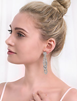 cheap -Women's Stylish Drop Earrings - Creative, Flower Simple, European, Fashion Silver For Wedding / Daily