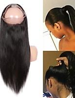 Недорогие -Guanyuwigs Бразильские волосы 360 Лобовой Прямой Швейцарское кружево Remy Жен. Шелковистость / Женский / Новое поступление Для вечеринок / На каждый день / Природные волосы
