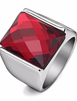 cheap -Men's Synthetic Ruby / Black Gemstone Retro Ring - Resin, Titanium Steel Creative Statement, Stylish, Vintage 7 / 8 / 9 Black / Red For Evening Party / Carnival