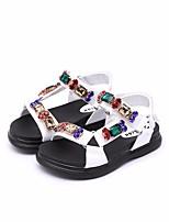 Недорогие -Девочки Обувь Искусственная кожа Лето Удобная обувь Сандалии для Белый / Розовый