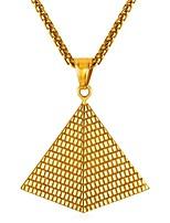 Недорогие -Муж. Классический Ожерелья с подвесками - Нержавеющая сталь Креатив Классика Золотой, Серебряный 55 cm Ожерелье 1шт Назначение Подарок, Повседневные