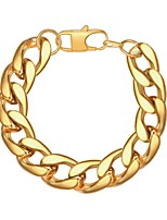 cheap -Men's Thick Chain Chain Bracelet - Stainless Steel Creative Trendy, Fashion Bracelet Gold / Black / Silver For Gift / Daily