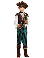cheap -Pirate Outfits Boys' Halloween / Carnival / Children's Day Festival / Holiday Halloween Costumes Coffee Solid Colored / Halloween Halloween