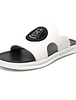 cheap -Men's Nappa Leather Summer Comfort Sandals White / Black