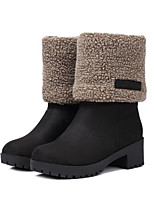 cheap -Women's Shoes Suede Winter Snow Boots / Fluff Lining Boots Low Heel Black / Gray / Khaki