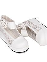economico -Scarpe Dolce / Lolita Classica e Tradizionale Principessa Polacche Scarpe Ricamato 5 cm CM Bianco / Nero / Blu inchiostro Per PU