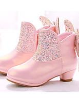 Недорогие -Девочки Обувь Синтетика Весна & осень Удобная обувь / Модная обувь Ботинки для Белый / Розовый