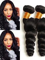 Недорогие -4 Связки Перуанские волосы Свободные волны Натуральные волосы Головные уборы / Человека ткет Волосы / Удлинитель 8-28 дюймовый Ткет человеческих волос Машинное плетение
