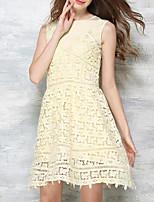 abordables -Mujer Básico Conjunto - Geométrico Vestidos