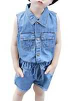 Недорогие -Дети (1-4 лет) Мальчики С принтом Без рукавов Набор одежды