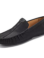 cheap -Men's Moccasin PU(Polyurethane) Summer Loafers & Slip-Ons Black / Brown / Khaki