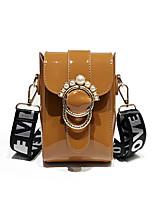cheap -Women's Bags PU(Polyurethane) Shoulder Bag Buttons Red / Blushing Pink / Brown