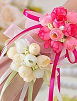 baratos -Bouquets de Noiva Buquê de Pulso Casamento / Festa Tecidos 0-10 cm