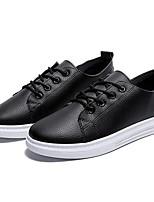 cheap -Women's Shoes PU(Polyurethane) Summer Comfort Sneakers Flat Heel Round Toe White / Black / Pink