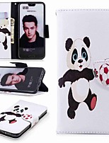 cheap -Case For Huawei Honor 10 / Huawei Honor 7A Wallet / Card Holder / with Stand Full Body Cases Panda Hard PU Leather for Huawei Honor 10 / Honor 7X / Huawei Honor 7C(Enjoy 8)