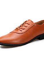 cheap -Men's Faux Leather Fall / Spring & Summer Comfort Oxfords Black / Brown