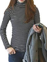 economico -T-shirt Per donna Vintage / Moda città Tinta unita / A strisce