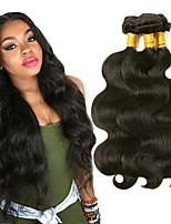 cheap -3 Bundles Malaysian Hair Body Wave Human Hair Natural Color Hair Weaves / Hair Bulk / Bundle Hair / Human Hair Extensions 8-28 inch Natural Color Human Hair Weaves Extention / Best Quality / Hot Sale
