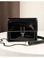 cheap -Women's Bags PU(Polyurethane) Shoulder Bag Zipper Black / Silver / Red
