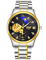 cheap -BOSCK Men's Mechanical Watch Water Resistant / Water Proof / Hollow Engraving / Noctilucent Stainless Steel Band Luxury / Skeleton Silver