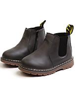 Недорогие -Девочки Обувь Полиуретан Наступила зима Армейские ботинки Ботинки Для прогулок для Дети Черный / Серый / Темно-коричневый
