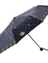 Недорогие -Полиэстер / Нержавеющая сталь Девочки Солнечный и дождливой Складные зонты
